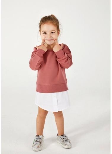 Pinolini Gömlek Detaylı Sweatshirt Somon